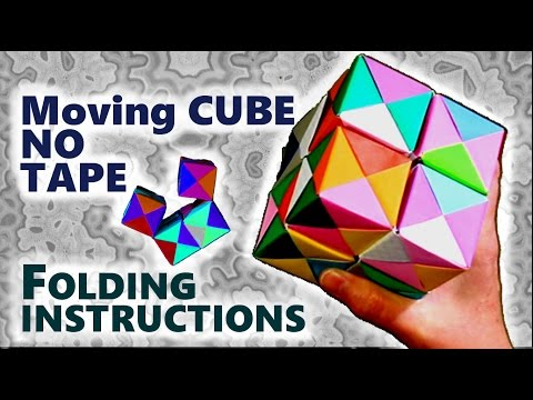 Origami Cube That Can Move How To Make Without Adhesive Folding