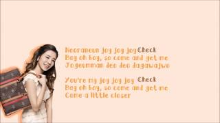 Girls' Generation SNSD (소녀시대) - Check Lyrics Color Coded [Eng Sub + Rom]