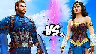 Captain America VS Wonder Woman (Marvel VS DC Comics) - EPIC BATTLE