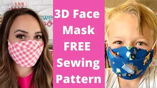 BEST 3D Face Mask EASY To Sew | FREE Face Mask Pattern | Sweet Red Poppy