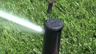 Irrigatore TORO T7 - regolazione dell'inclinazione del getto e angolo