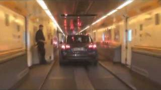 preview picture of video 'Crossing the channel tunnel from Calais to Folkestone'