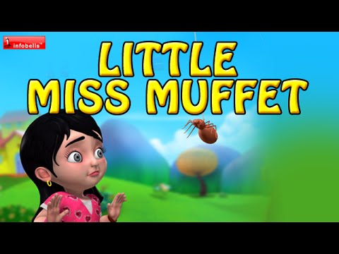 Download Little Miss Muffet | Nursery Rhymes for Children | Infobells Mp4 HD Video and MP3