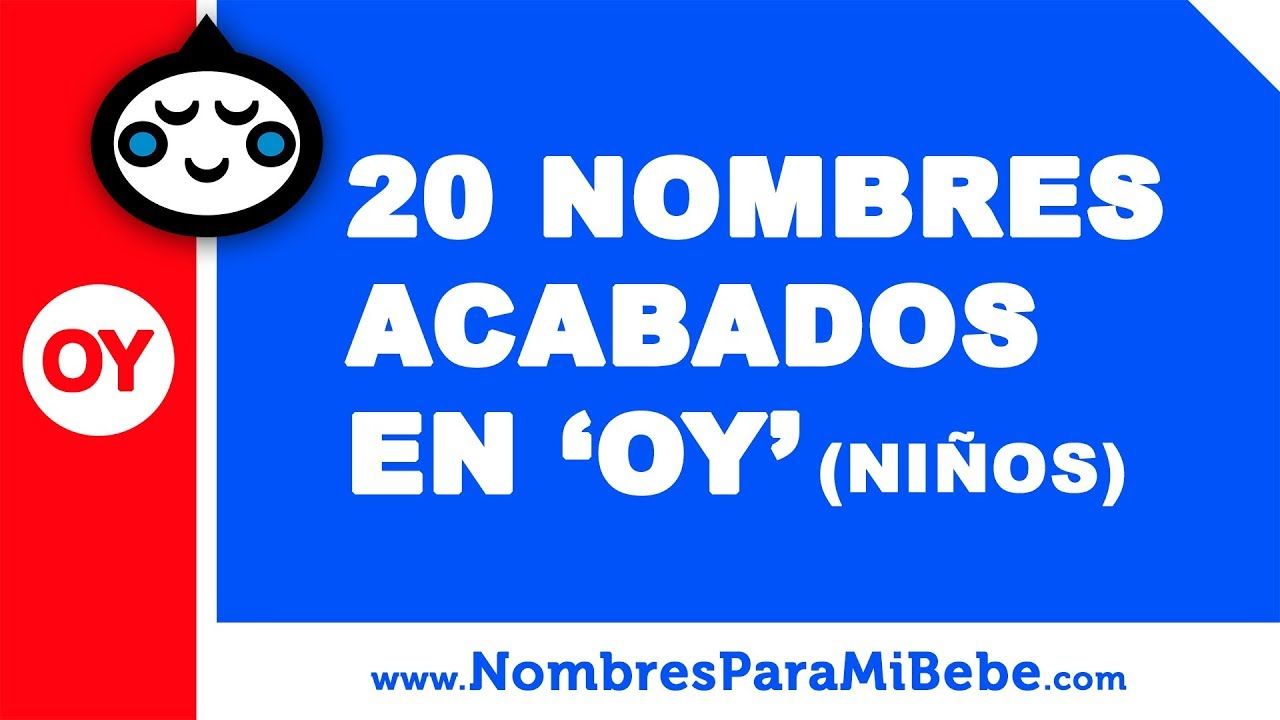 20 nombres para niños terminados en OY - los mejores nombres de bebé - www.nombresparamibebe.com