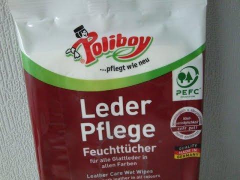 Poliboy Leder Pflege reinigt schonend Feuchttücher