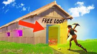 INSANE FORTNITE LOOT TUNNEL TRAP! (Battle Royale)