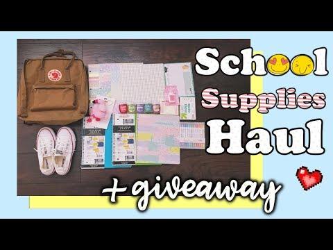 [BACK TO SCHOOL HAUL] 😎 TRÂN ĐÃ MUA GÌ CHO NĂM HỌC MỚI + GIVEAWAY 😍 School Supplies Haul  Diane Le
