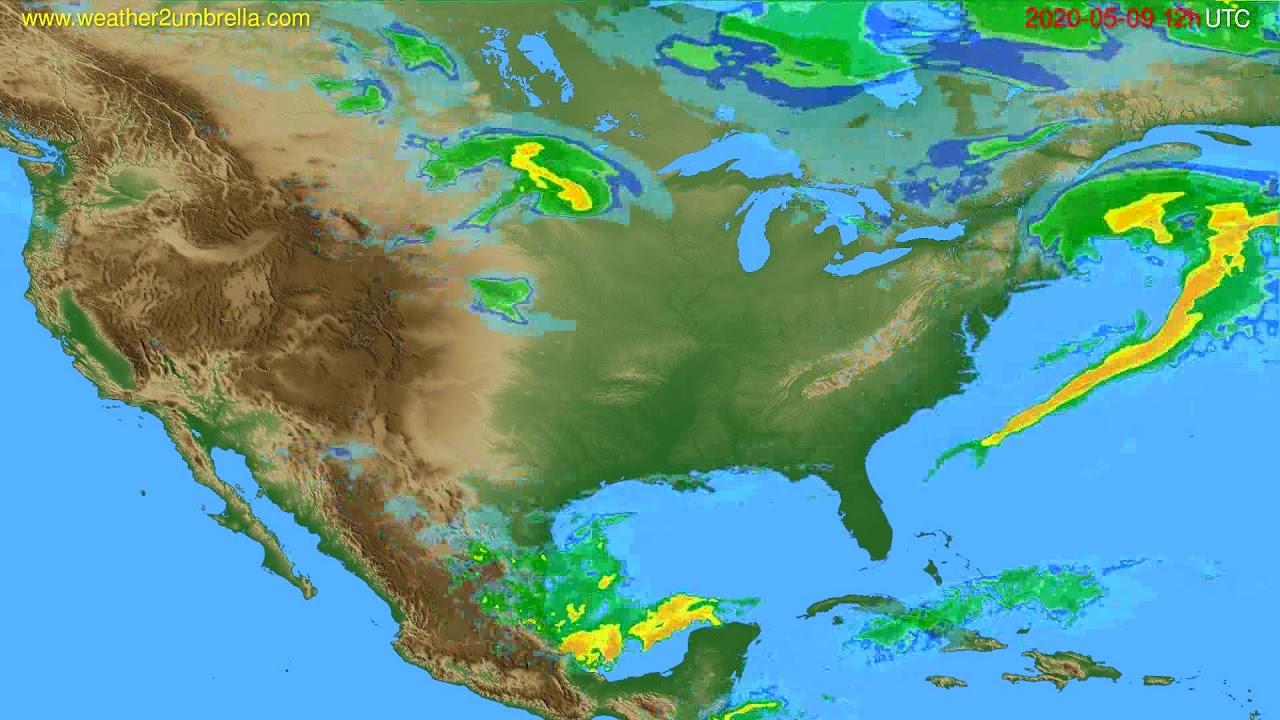 Radar forecast USA & Canada // modelrun: 00h UTC 2020-05-09