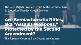 "Click to play: Panel 2: Are Semiautomatic Rifles, aka ""Assault Weapons,"" Protected by the Second Amendment?"