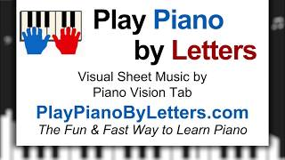 star wars theme song piano easy letters - TH-Clip