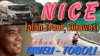 preview picture of video 'Jalan trans Sulawesi kebun kopi || jalur Taweli - Toboli/Road trans Sulawesi coffee plantation Palu'
