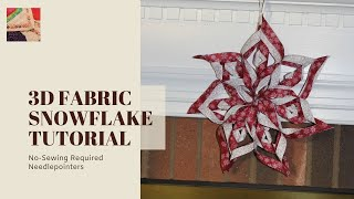 3D Paper Snowflake Tutorial | CHRISTMAS TUTORIAL - hmong video