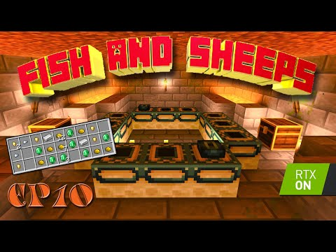 , title : 'Sea Treasure & the End Portal Room! - Fish & Sheeps Ep 10 with RTX On