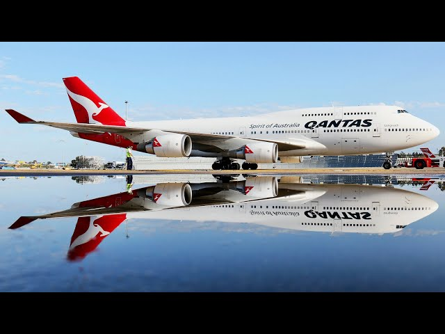 Farewell to the Qantas Boeing 747 - Sydney to Melbourne Economy Class Trip Report. [4K]