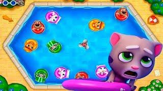 ГОВОРЯЩИЙ ТОМ АКВАПАРК ОХОТА ЗА ЯЙЦАМИ  #5 мультик игра видео для детей  Talking Tom Pool Egg Hunt