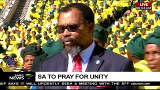Thousands Assemble For The National Day Of Prayer At FNB Stadium