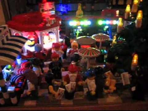 mein beleuchteter Weihnachtsmarkt - jetzt im Lego Store in München