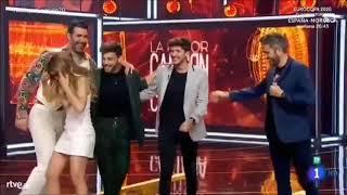 Momentos Divertidos De Agoney Con Carlos Right, Natalia De OT1 Y Roberto Leal En LMCJC 23-3-19