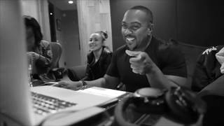 Timbaland in the studio