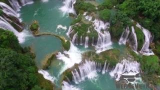 We Ride Vietnam -Drone Footage Ban Gioc waterfall / North East Motorbike Tour