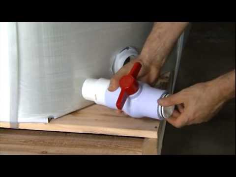 EZ-BULK 48x40 Disposable Liquid Tote Corner Evacuation w/Disposable Cutter
