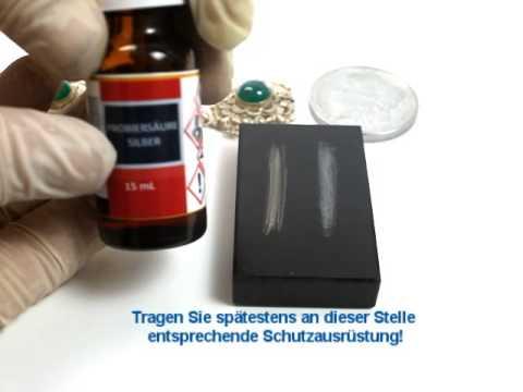 Probiersäure Silber zum schnellen Silbertest - Anleitung zum Gebrauch