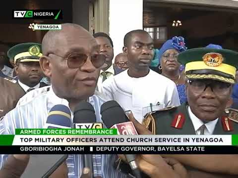 Armed Forces Remembrance day: Top military officers attend church service in Yenagoa