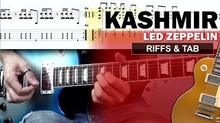 COVER & TAB: Kashmir - Led Zeppelin (all guitar riffs)