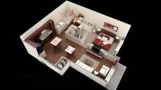 One Bedroom Apartment 3d Floor Plans