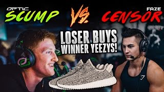 OpTic Scump vs. FaZe Censor - 1v1 (Loser Buys Winner NEW Yeezy's)