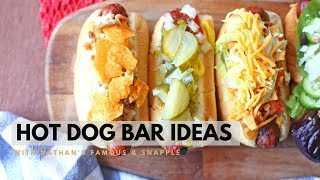 Hot Dog Bar Ideas With Nathans Famous Hot Dogs & Snapple