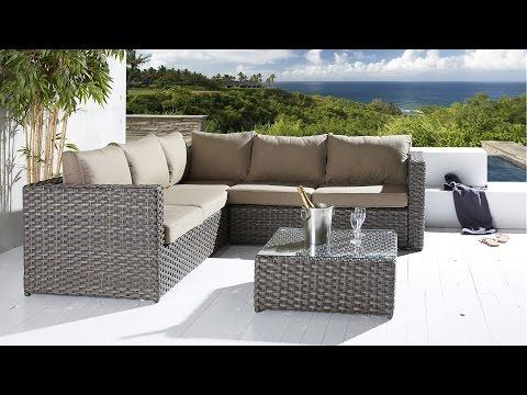 Gartenmöbel aus Polyrattan - Gartenlounge