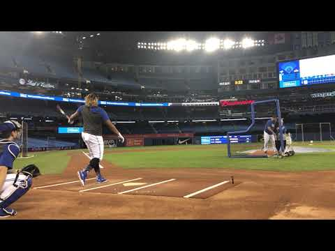 Vlad Guerrero Jr. LAUNCHES to practice for Home Run Derby