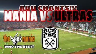 PANAS!! ADU CHANTS THE JAK MANIA VS BRIGATA CURVA SUD , PSS SLEMAN VS PERSIJA JAKARTA