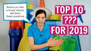 Angela Brown's Top 10 Questions to Ask When Hiring a House Cleaner for 2019
