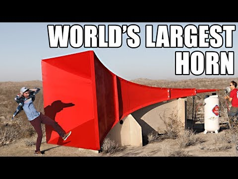 World's Largest Horn Shatters Glass Mp3