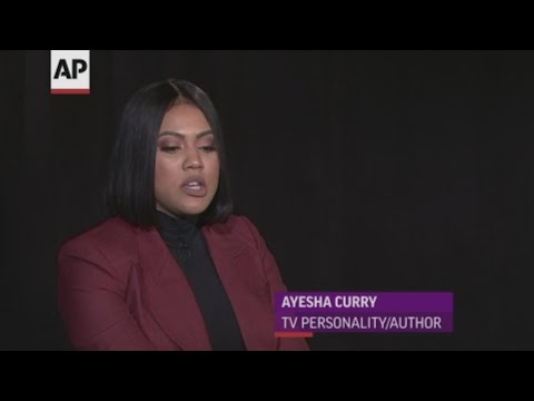 """TV personality and author Ayesha Curry, wife of NBA megastar Steph Curry, talks about critics who say she's only successful due to her husband, as well as wanting to teach her daughters it's OK to be """"proud to be a wife and a mom."""" (May 16)"""