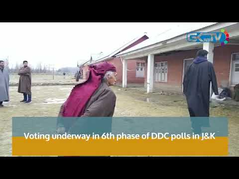 Voting underway in 6th phase of DDC polls in J&K