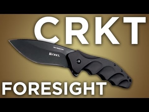 "CRKT Ken Onion Foresight Liner Lock Knife (3.5"" Black) K220KKP"
