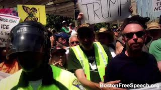 Boston Free Speech, attends Boston's June 30th Boston's Abolish ICE Protest.