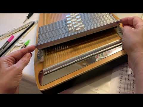 Recommended Chord Bar Arrangement for Chromatic Autoharps