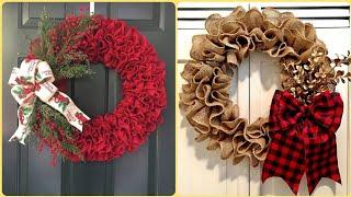 30+ Elegant Diy Burlap Wreath Ideas || Easter Wreath || Hallowen Wreath || Christmas Wreath