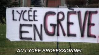 Abbeville - 10 fev 2011 - Grève à la cité scoalire Boucher de Perthes