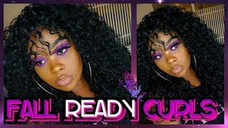 CURLY QUICK WEAVE WITH BANGS FT. ORGANIQUE MAUI CURLS