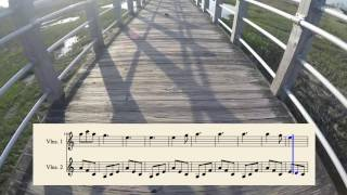 Hallelujah - VIOLIN COVER for 2 Violins (with sheet music)