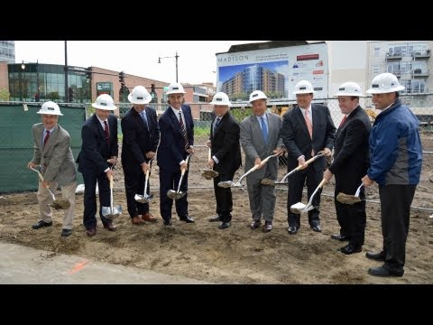 Video from a West Loop groundbreaking for new luxury apartments