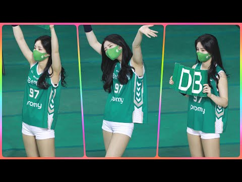 [4K] 치어리더 손현미 직캠 (cheerleader) - 3/4쿼터 응원 모음 @남자농구(원주DB)/210…