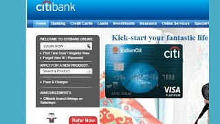 How to self register Citibank Credit Card online