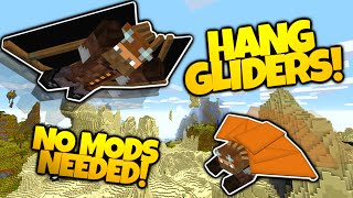 Minecraft | HANG GLIDERS! | NO MODS | Soar Through The Sky! | Different Colors! (Minecraft Redstone)