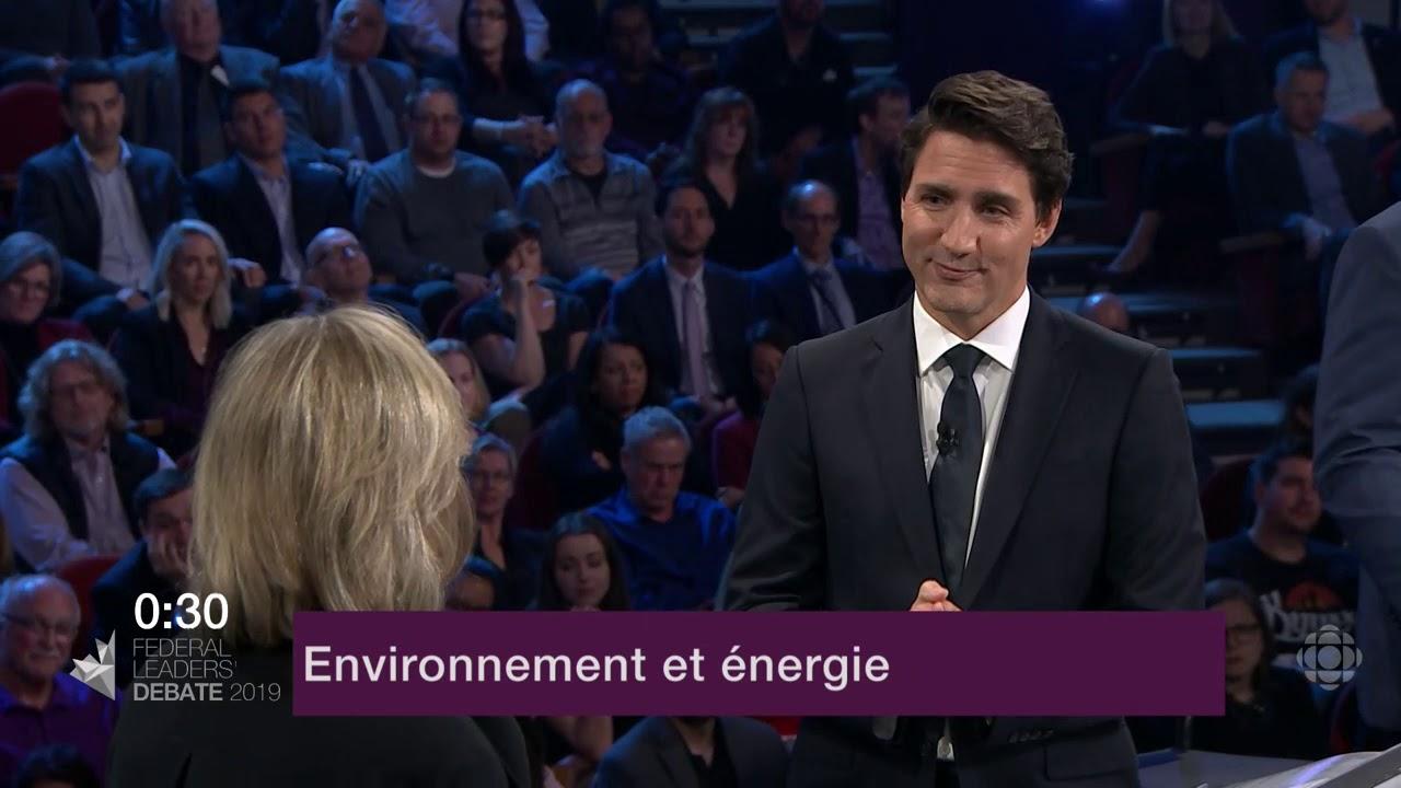 Justin Trudeau et Elizabeth May débattent sur les oléoducs et le changement climatique